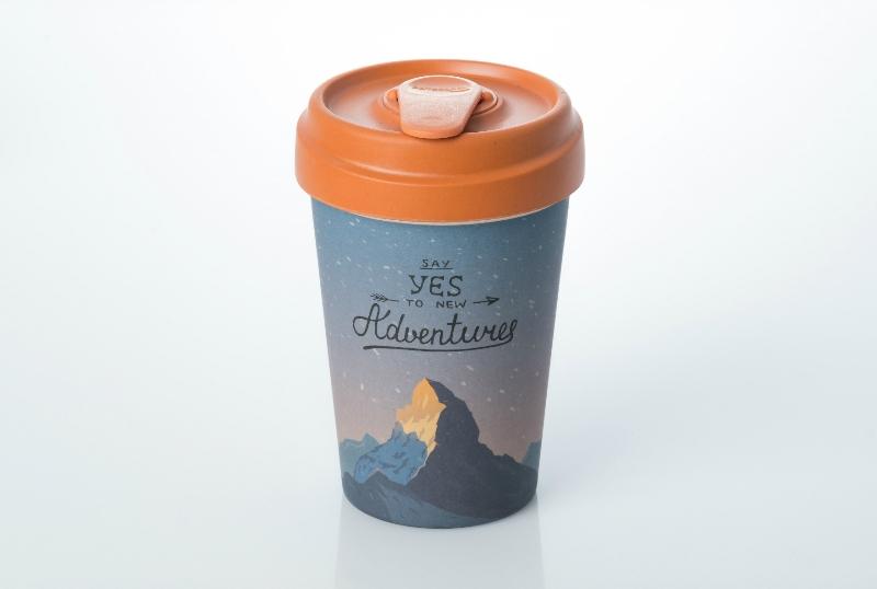 Bamboo reusable cup